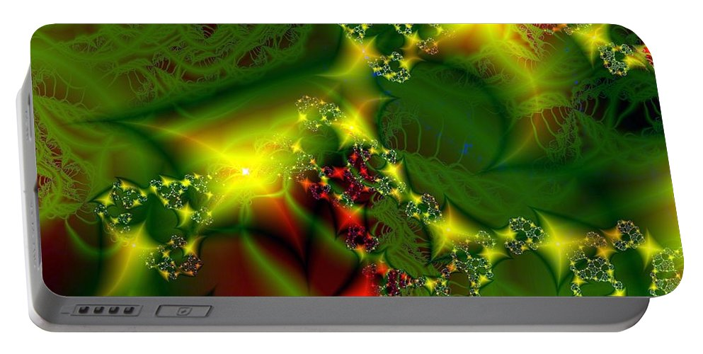 Fairies Portable Battery Charger featuring the digital art Fairy Light by Ron Bissett