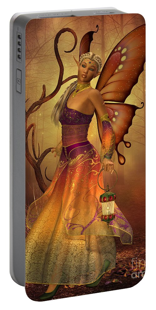 Fairy Portable Battery Charger featuring the painting Fairy Lilith by Corey Ford