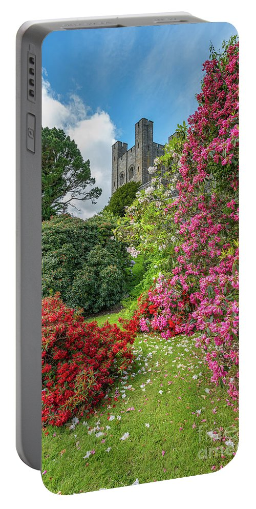 Castle Portable Battery Charger featuring the photograph Fairy Tale Garden by Adrian Evans