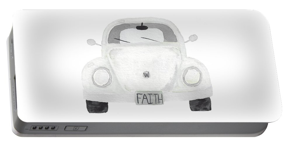 Faith Portable Battery Charger featuring the painting Faith Ispiration Bug by Terilyn Hernandez