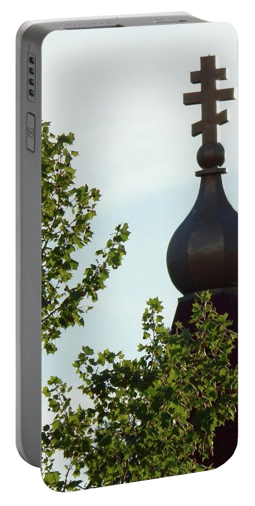 Church Spire Portable Battery Charger featuring the photograph Faith by Viki Velazquez