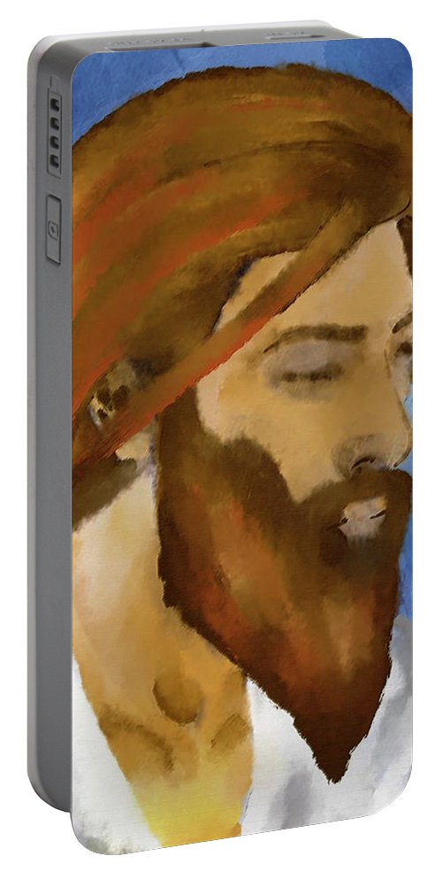 Faith Portable Battery Charger featuring the painting Faith by William Depaula