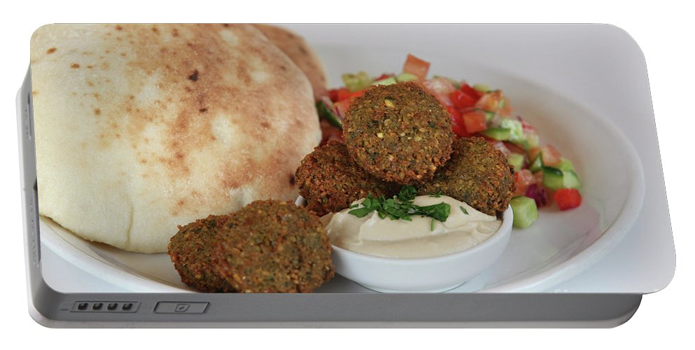 Plate Portable Battery Charger featuring the photograph Falafel Balls by PhotoStock-Israel