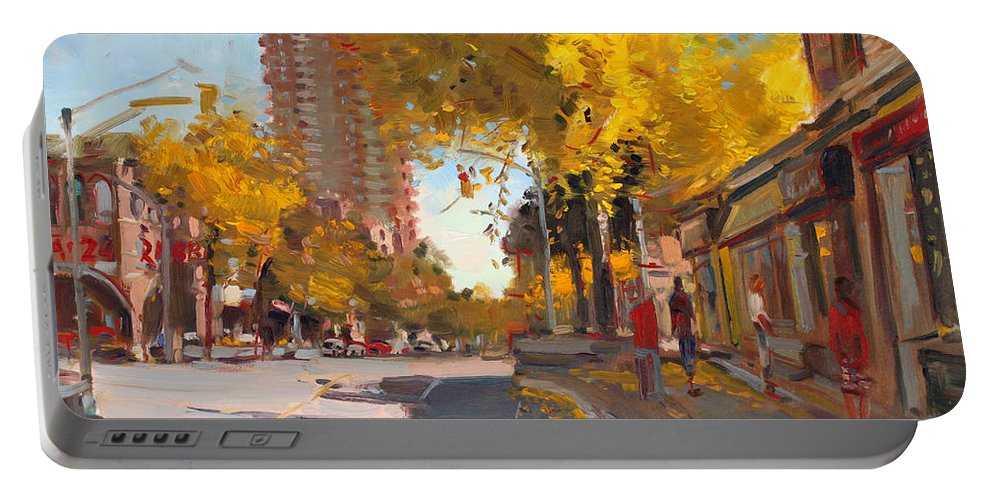 Fall In Canada Portable Battery Charger featuring the painting Fall 2010 Canada by Ylli Haruni
