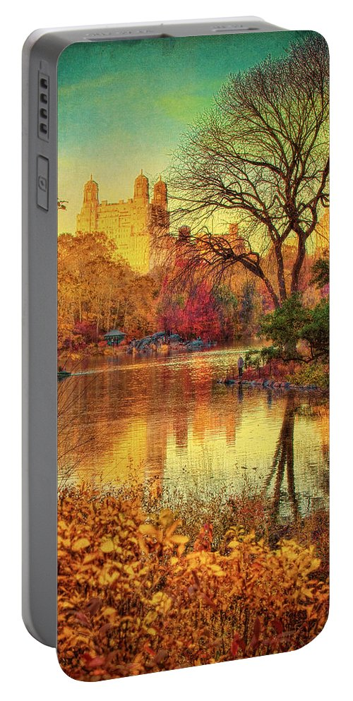 New York Portable Battery Charger featuring the photograph Fall Afternoon In Central Park by Chris Lord