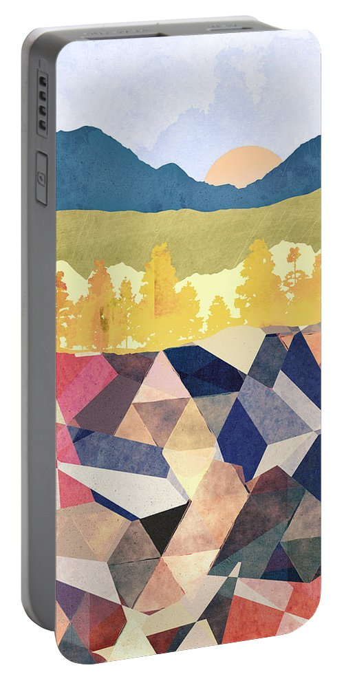 Fall Portable Battery Charger featuring the digital art Fall Afternoon Light by Spacefrog Designs