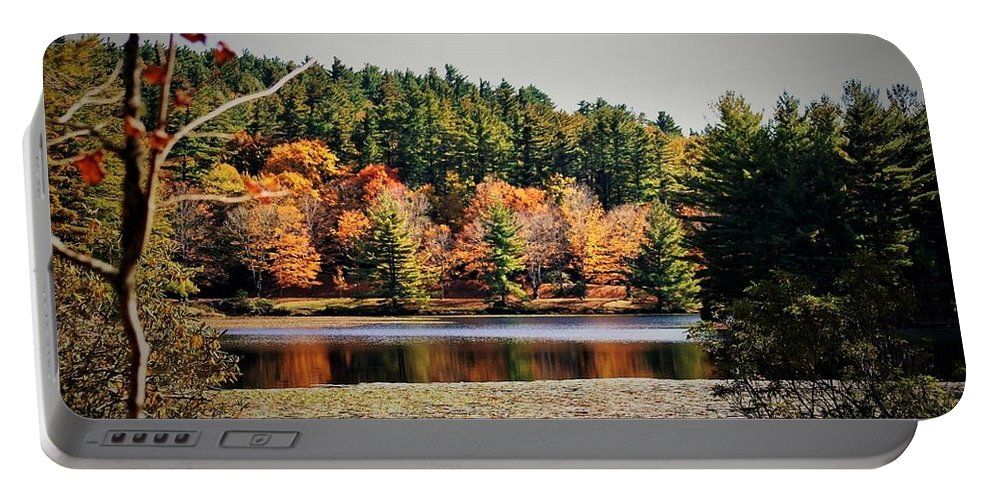 Bass Lake Portable Battery Charger featuring the photograph Fall At Bass Lake by Vice Photo