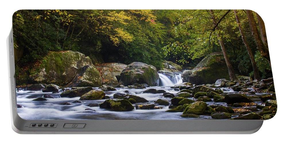 Great Smoky Mountains National Park Portable Battery Charger featuring the photograph Fall At Midnight Hole by Blue Ridge Mountain Life