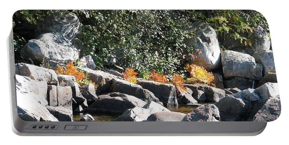 Creek Portable Battery Charger featuring the photograph Fall At The Creek by Kelly Mezzapelle