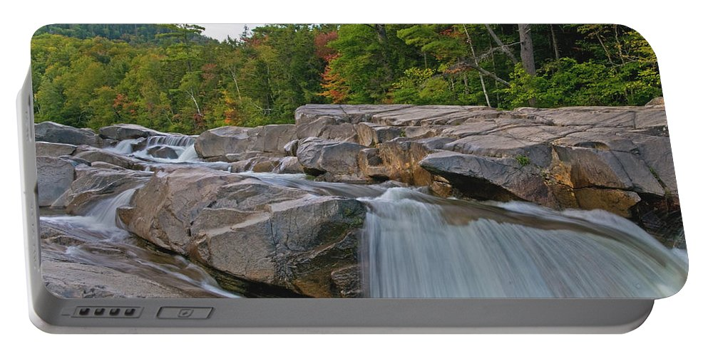 lower Falls Portable Battery Charger featuring the photograph Fall At The Falls by Paul Mangold