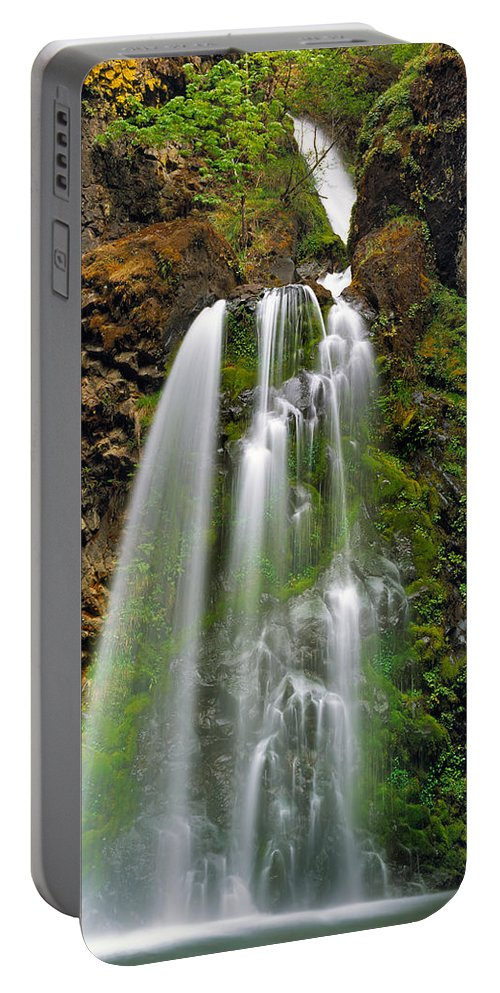 Oregon Portable Battery Charger featuring the photograph Fall Creek Falls by Leland D Howard