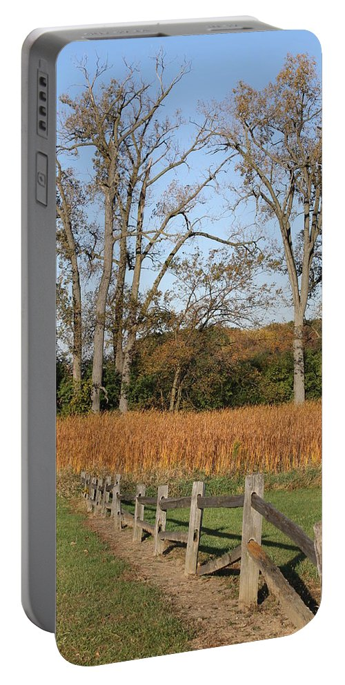 Fence Portable Battery Charger featuring the photograph Fall Fence by Lauri Novak