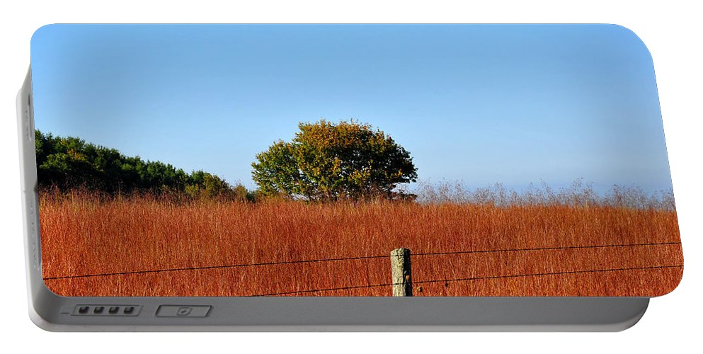 Fall Portable Battery Charger featuring the photograph Fall Field by Todd Hostetter