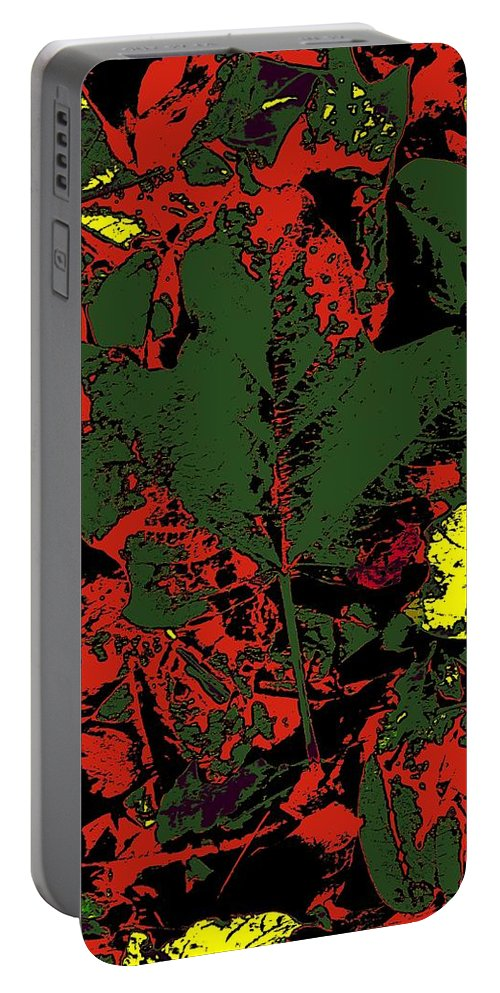 Fall Portable Battery Charger featuring the digital art Fall Flourish 2 by Tim Allen