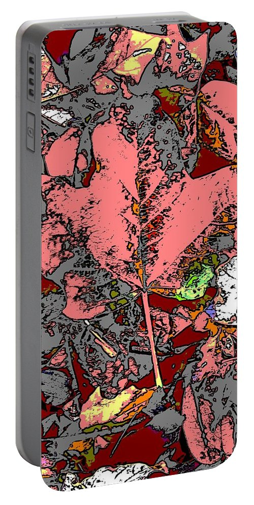 Fall Portable Battery Charger featuring the digital art Fall Flourish by Tim Allen