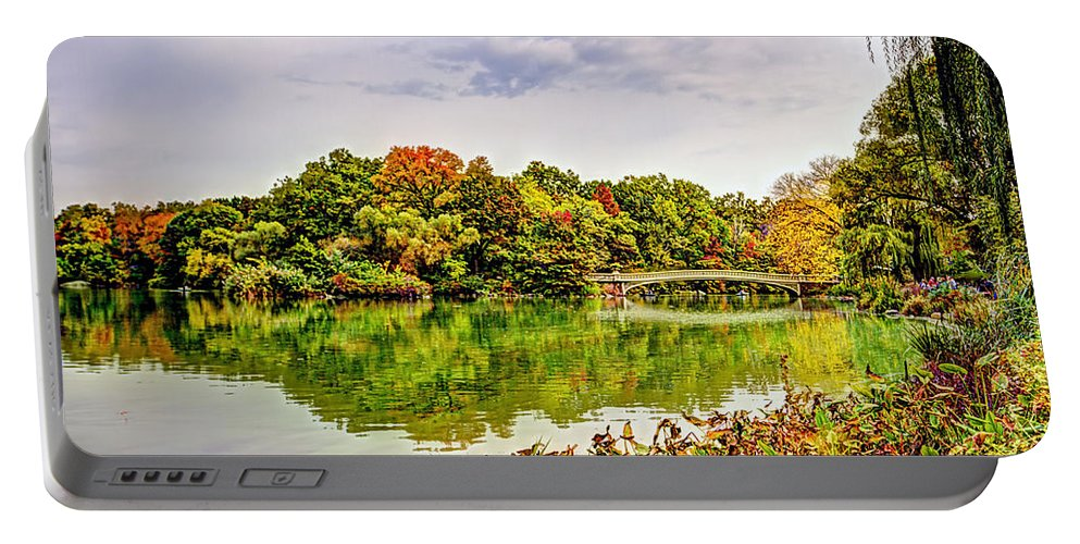 Street Portable Battery Charger featuring the photograph Fall In Central Park by Geraldine Scull