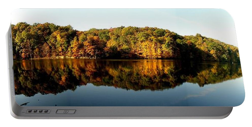Fall Portable Battery Charger featuring the photograph Fall in Indiana by Carol Milisen
