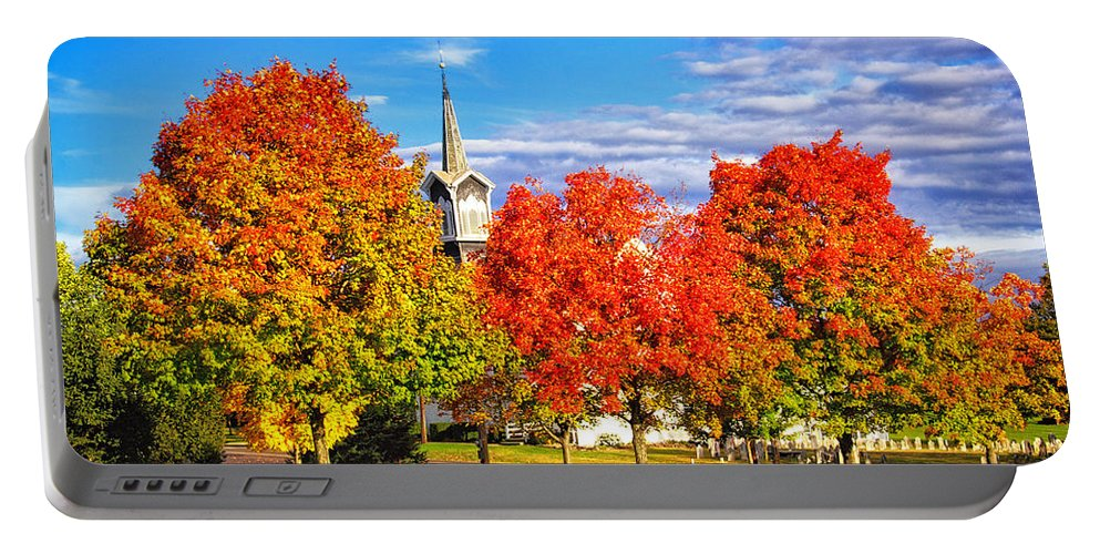 Fall In The Country Portable Battery Charger featuring the photograph Fall In The Country by Carolyn Derstine