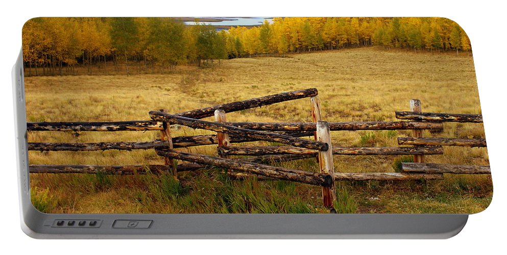 Fall Colors Portable Battery Charger featuring the photograph Fall In The Rockies 2 by Marty Koch