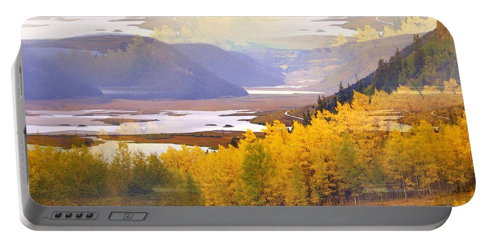 Fall Portable Battery Charger featuring the photograph Fall In The Rockies by Marty Koch