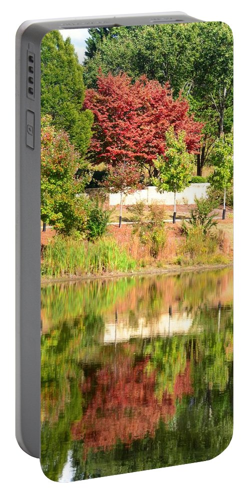 Fall Portable Battery Charger featuring the photograph Fall Tree -loganville Georgia by Adrian DeLeon