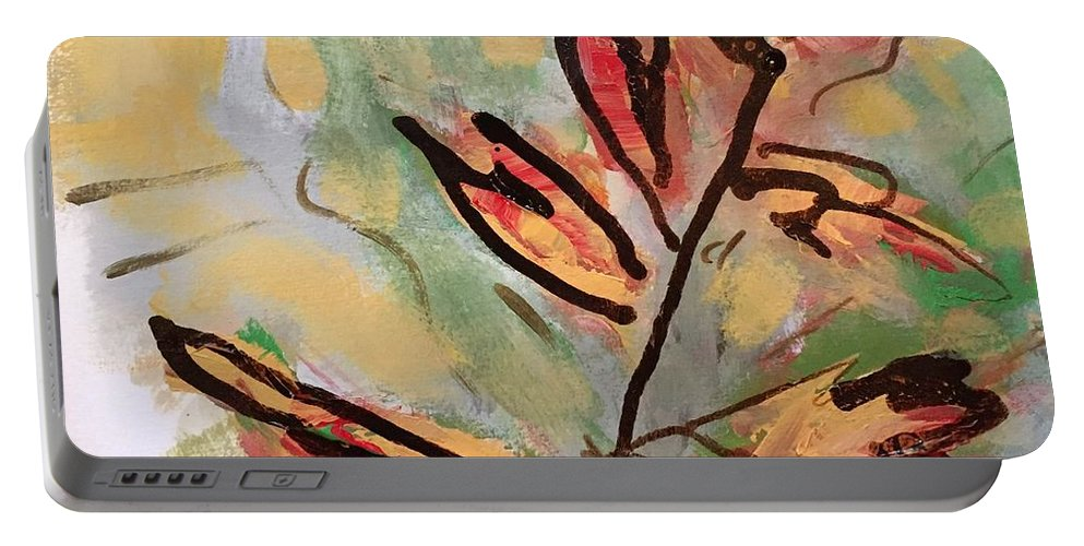 Fall Portable Battery Charger featuring the digital art Fall by Mary Jo Hopton