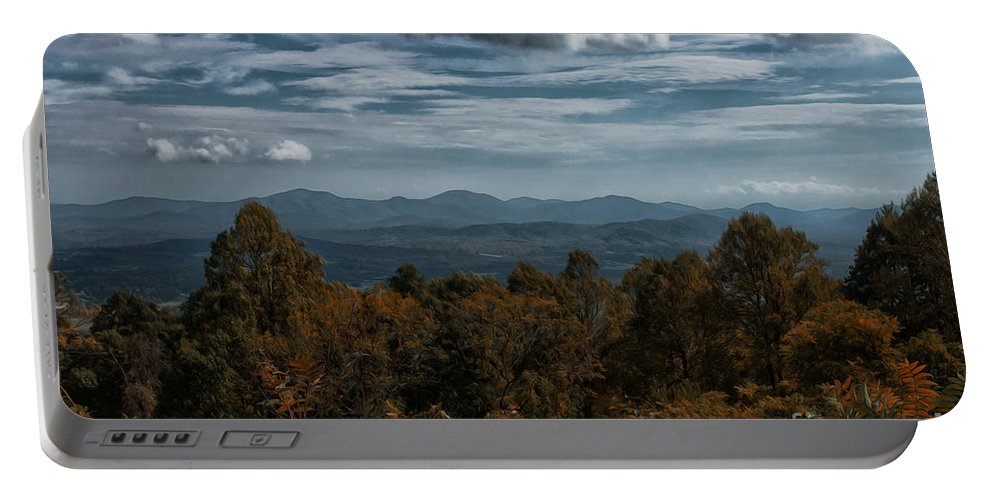 The All American Road Portable Battery Charger featuring the photograph Fall On The All American Road by Tom Gari Gallery-Three-Photography
