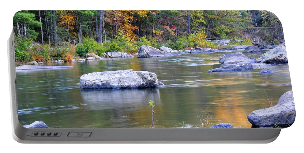 Maury River Portable Battery Charger featuring the photograph Fall On The Maury by Todd Hostetter