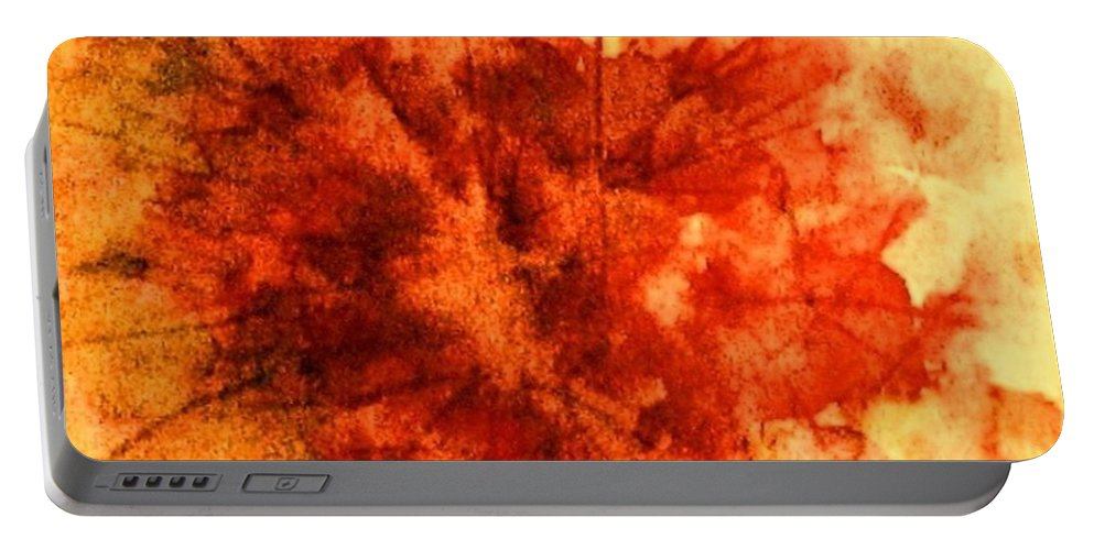 Fall Leaves Portable Battery Charger featuring the painting Fall Sensation by Hazel Holland