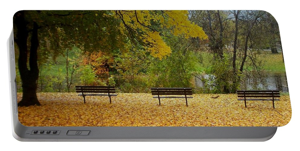 Fall Portable Battery Charger featuring the photograph Fall Series 13 by Anita Burgermeister