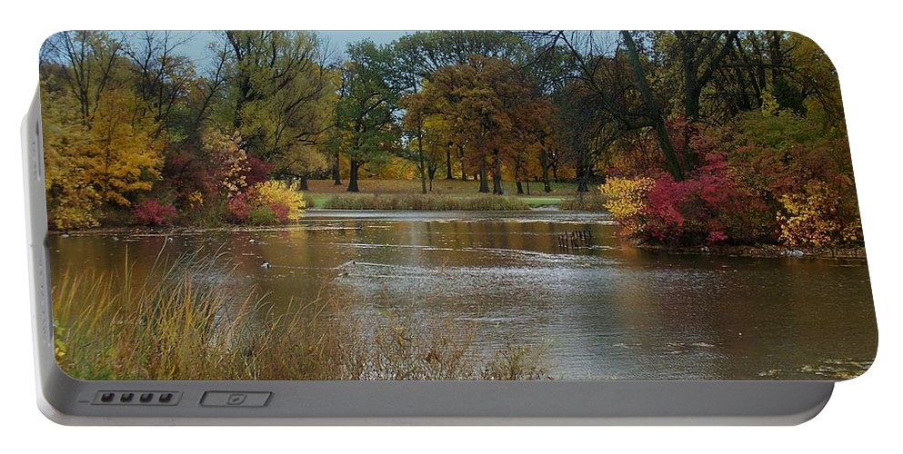 Fall Portable Battery Charger featuring the photograph Fall Series 9 by Anita Burgermeister