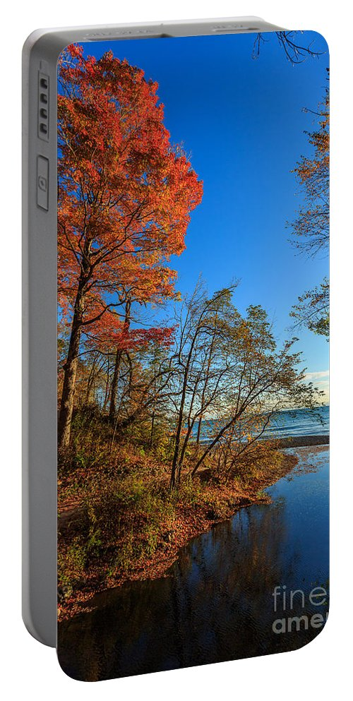 Autumn Portable Battery Charger featuring the photograph Fall Trails by Andrew Slater