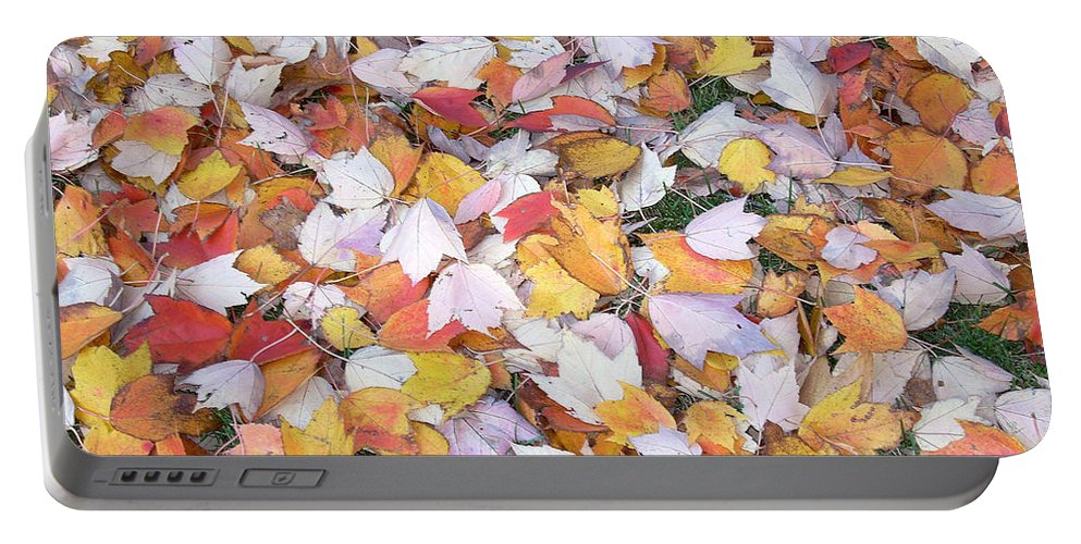 Photography Fall Autum Leaves Portable Battery Charger featuring the photograph Fallen Fantasy by Karin Dawn Kelshall- Best