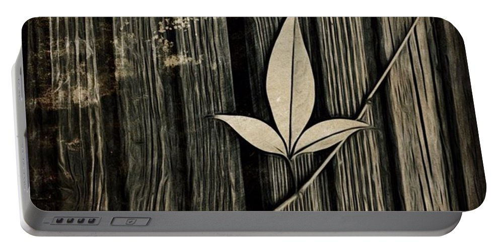 Icolorama Portable Battery Charger featuring the photograph Fallen Leaf by John Edwards