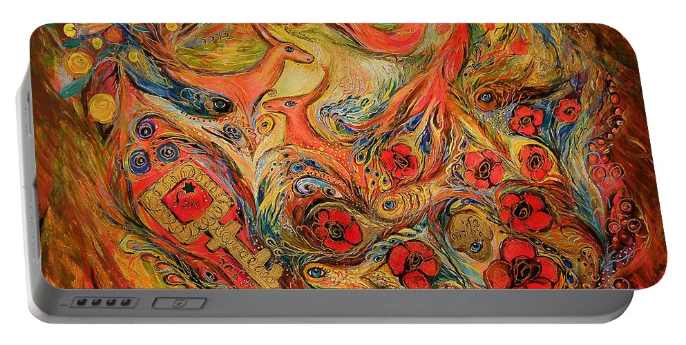 Original Portable Battery Charger featuring the painting Falling In Love by Elena Kotliarker
