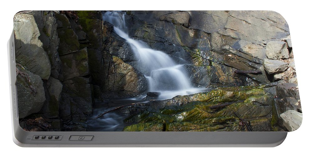 Waterfall Portable Battery Charger featuring the photograph Falling Waters In February #2 by Jeff Severson