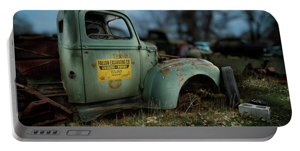 Antique Portable Battery Charger featuring the photograph Fallon Excavating Co. by YoPedro