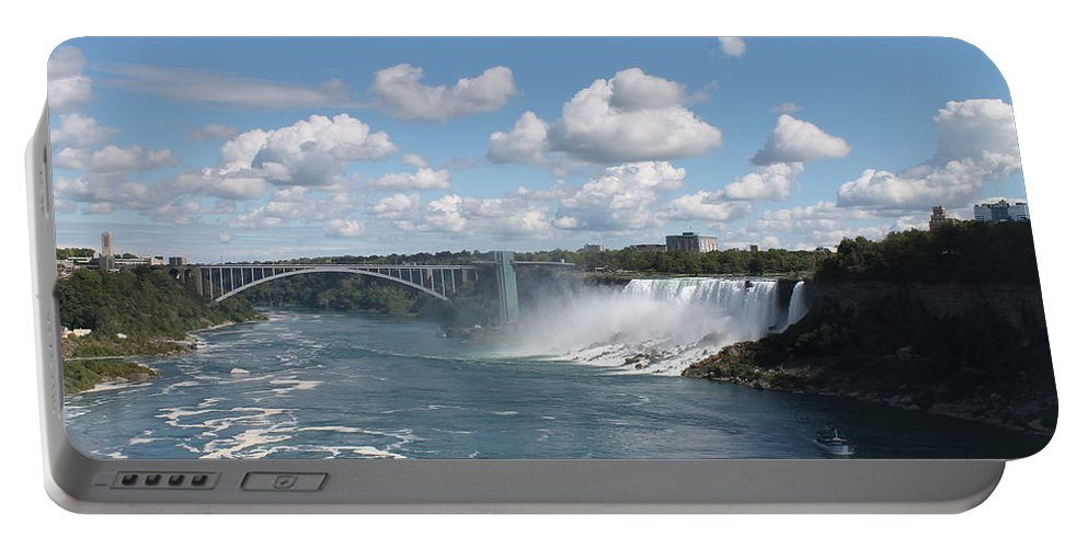 Niagara Falls Portable Battery Charger featuring the photograph Falls- American Side by Megan Greenfeld