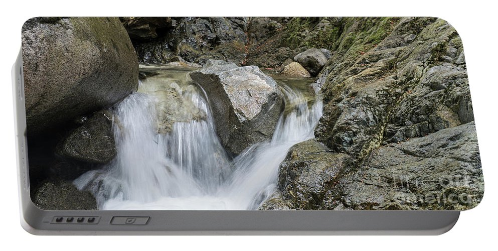Waterfalls Portable Battery Charger featuring the photograph Falls by Rod Wiens