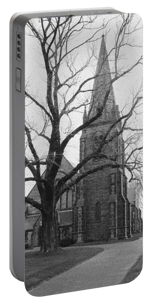 Falmouth Portable Battery Charger featuring the photograph Falmouth Church by Steven Natanson