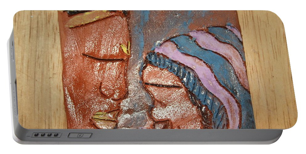 Jesus Portable Battery Charger featuring the ceramic art Family 11 - Tile by Gloria Ssali