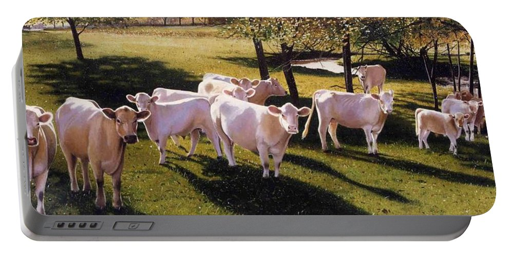 Landscape Portable Battery Charger featuring the painting Family Portrait by Denny Bond