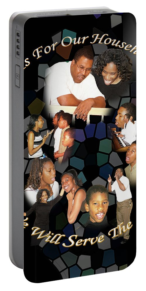 Family Portable Battery Charger featuring the photograph Family Serving by Richard Gordon