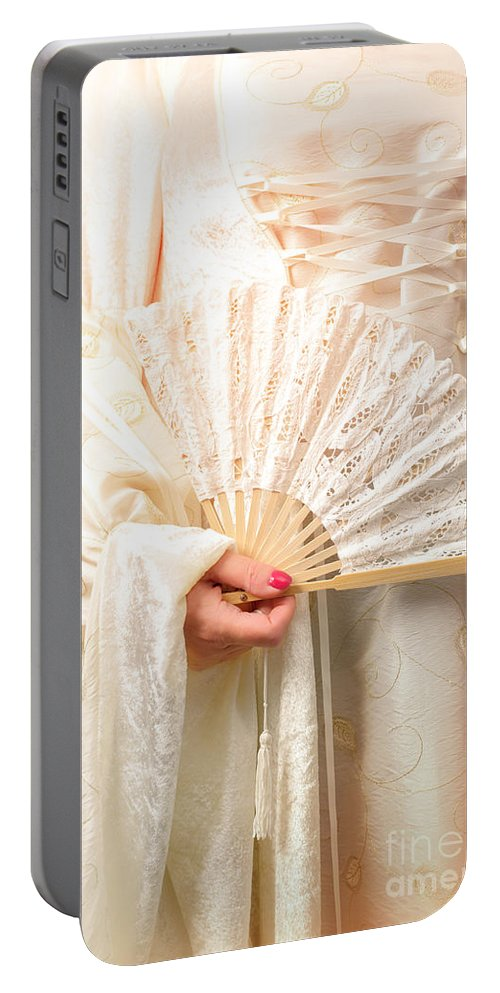 Wedding Portable Battery Charger featuring the photograph Fan by Amanda Elwell