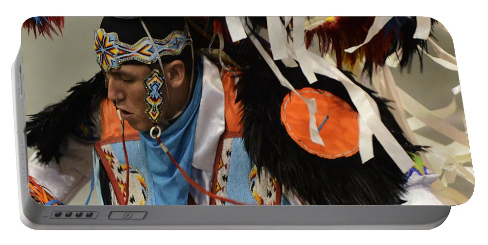 Pow Wow Portable Battery Charger featuring the photograph Pow Wow Fancy Dancer 1 by Bob Christopher