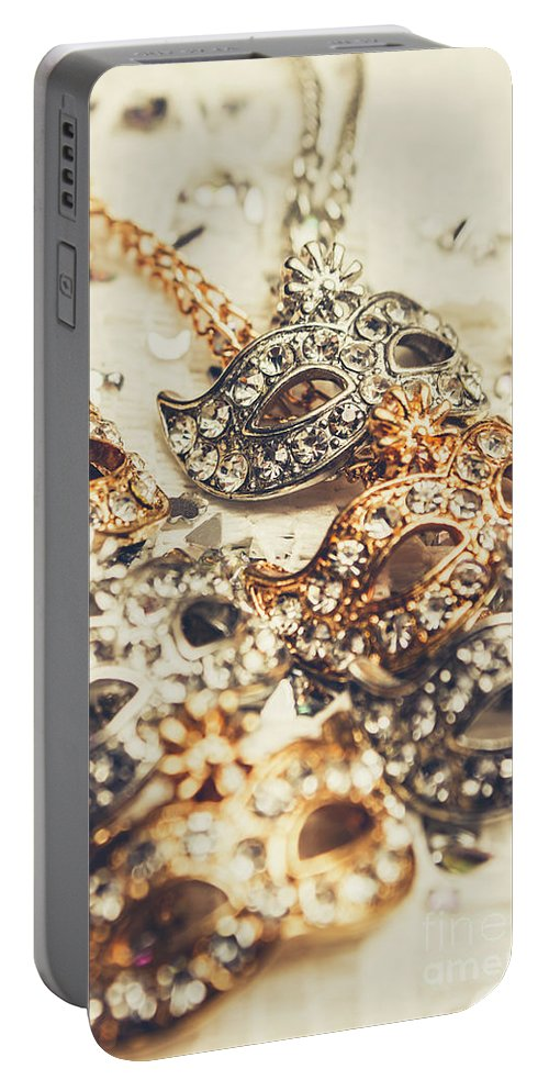 Accessory Portable Battery Charger featuring the photograph Fancy Dress Timepieces by Jorgo Photography - Wall Art Gallery