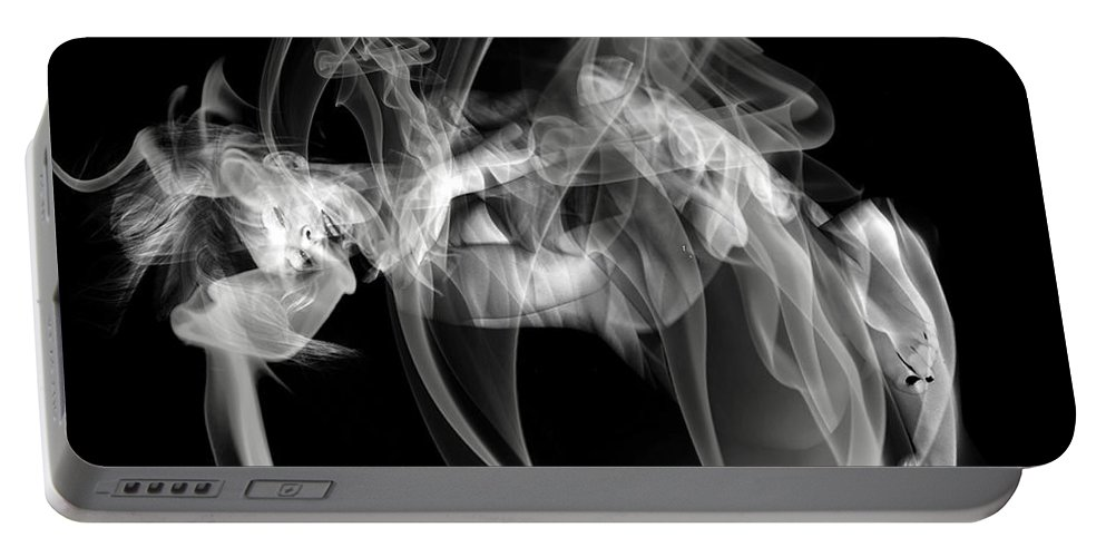 Clay Clayton Bruster Smoke Nude Art Erotic Abstract Beauty Wall Sexy Sensual Portable Battery Charger featuring the photograph Fantasies In Smoke Iv by Clayton Bruster