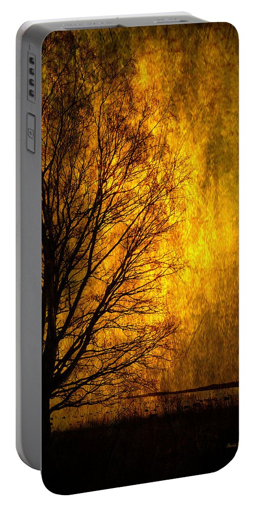 Dusk Portable Battery Charger featuring the photograph Fantasy Dawn by Randi Grace Nilsberg