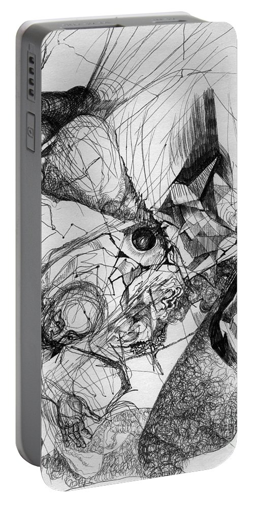 Fantasy Drawing Portable Battery Charger featuring the drawing Fantasy Drawing 1 by Svetlana Novikova