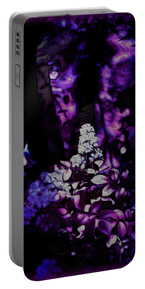 Surreal Landscape Portable Battery Charger featuring the photograph Fantasy Forest by Mykel Davis
